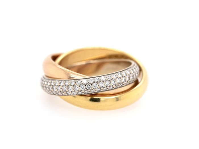 Cartier - 18 kt. Pink gold, Yellow gold - Ring - Trinity
