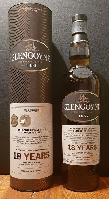 Glengoyne 18 years old - Original bottling - 0.7 L