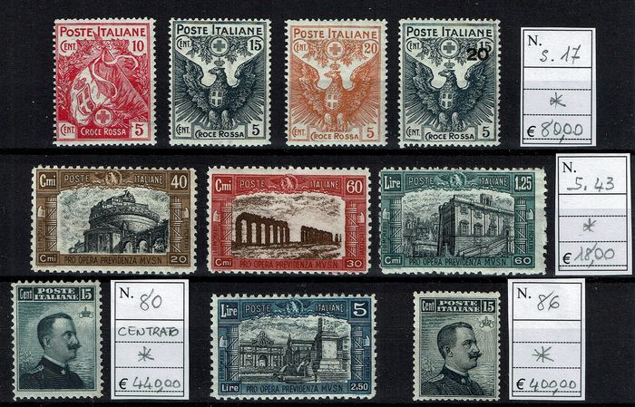 Italy Kingdom 1906/1926 - Lot composed of complete sets * MH