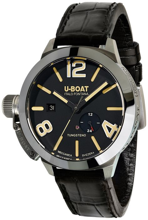 U-Boat - Automatic Classico Stratos Watch 45MM Black - 9006 - Herren - Brand New
