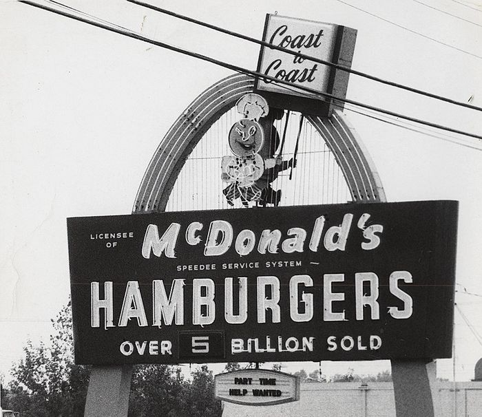 Unknown - McDonald's Sign, 1969
