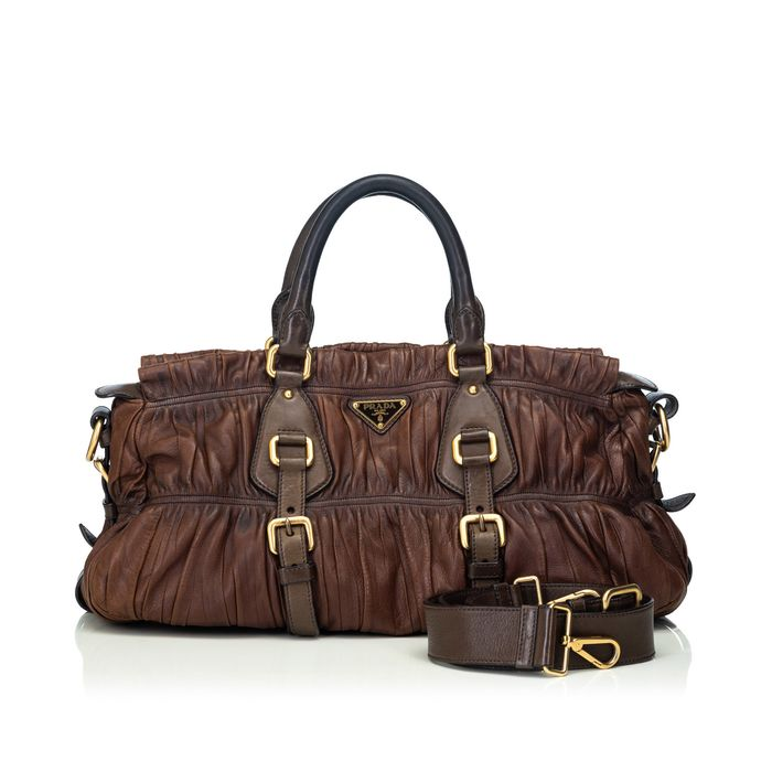 Prada - Gathered Leather Satchel Satchel