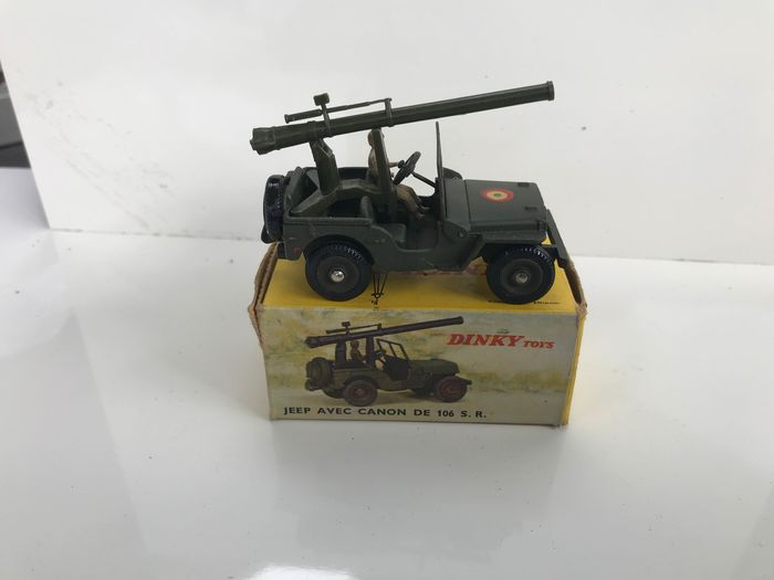Used, Dinky Toys - 1:43 - jeep avec canon de 106 s.r. n 829 - new condition Model Cars Dinky for sale