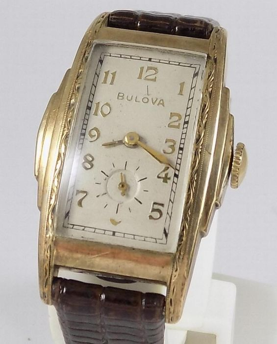 Bulova - Art Deco - Rectangular - Vintage U.S.A New York - Cal. 10AX - Men - 1940