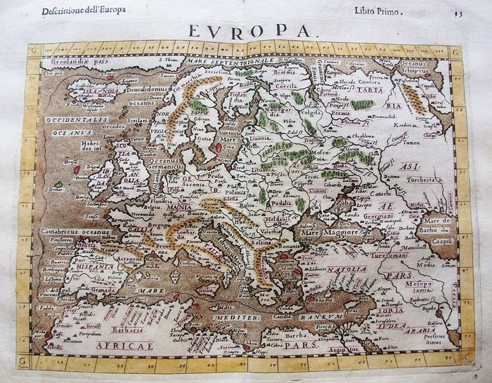 Europe, European Empire, Italia, Mediterranean Countries, Baltic Regions; Rosaccio / Magini / Tolomeo - Europa - 1581-1600