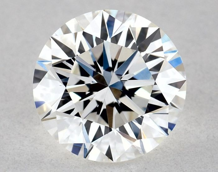 1 pcs Diamond - 1.01 ct - Brilliant, Round - G - IF (flawless), * EX/VG/VG * - Free FedEx Shipping