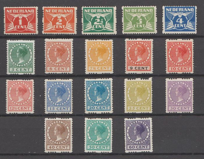 Países Bajos 1925 - Two-sided syncopation - NVPH R1/R18