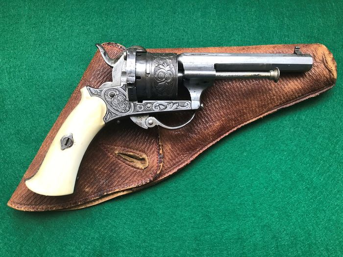 Belgium - JD Marked - Luxurious Ladies Model - Double action (DA) - Pinfire (Lefaucheux) - Revolver - 7mm Cal