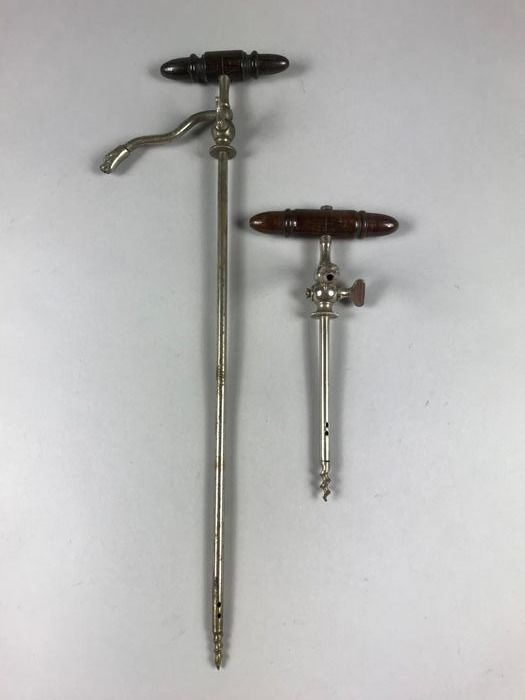 Two champagne taps - Nickel plated