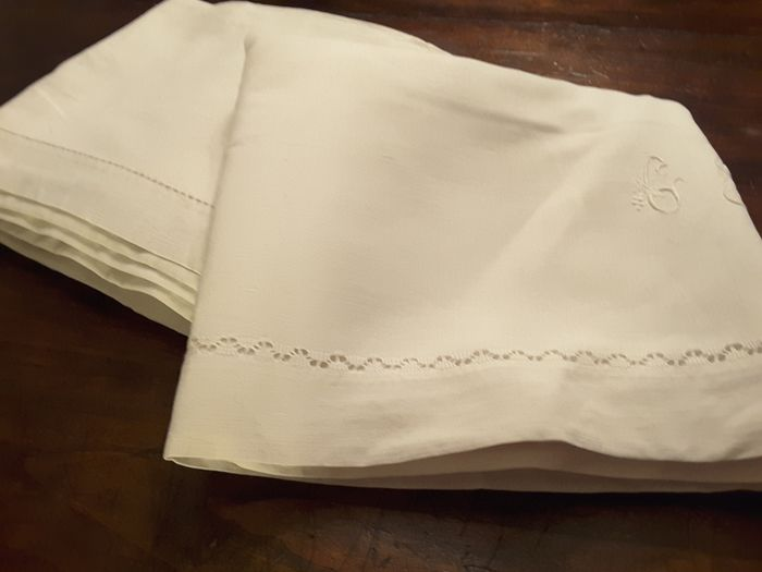 Sheet (2) - antique linen - 1940/1950