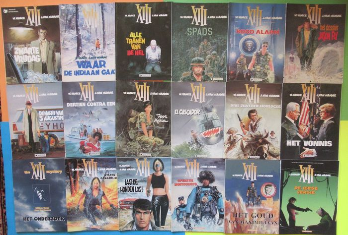 XIII 1 t/m 18 + 21 en 22 - Complete serie op twee na + XIII Kalender - Collectors Item - Softcover - First edition - (1984/2013)