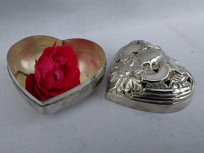 Box - Victorian Style - Silverplate