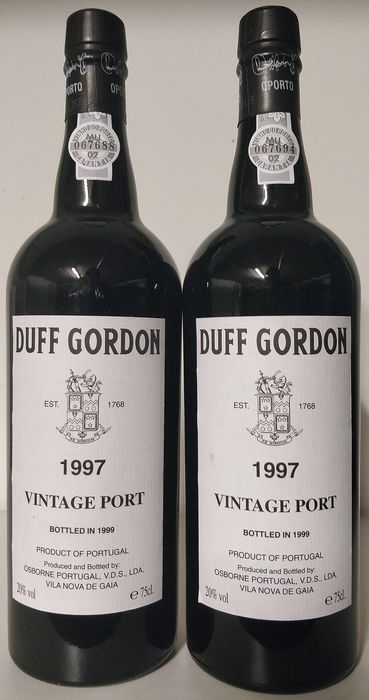 1997 Duff Gordon Vintage Port - 2 Bottles (0.75L)