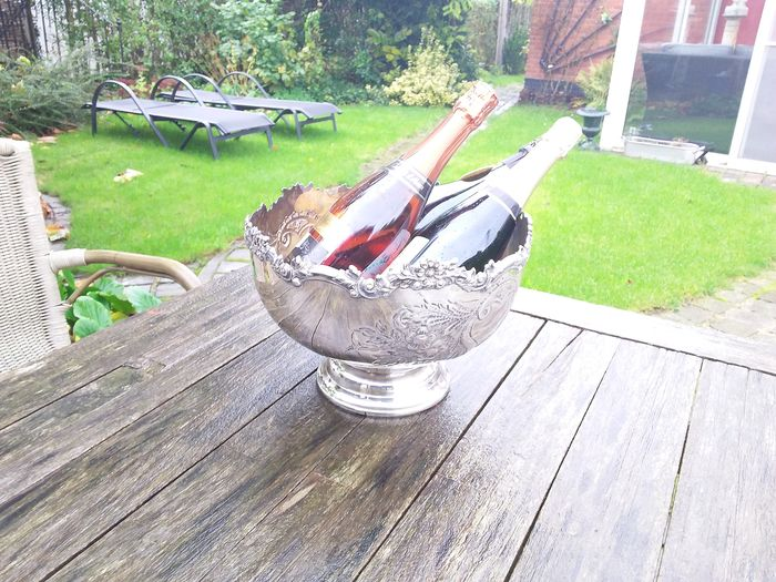 champAgnes cooler (1) - Victorian Style - Silverplate
