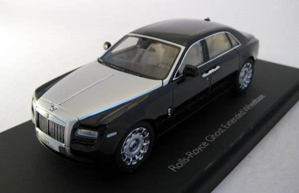 Kyosho - 1:43 - Rolls Royce Ghost Extended Wheelbase (Diamond Black) - Limited Edition - Mint Boxed - Factory Sold Out