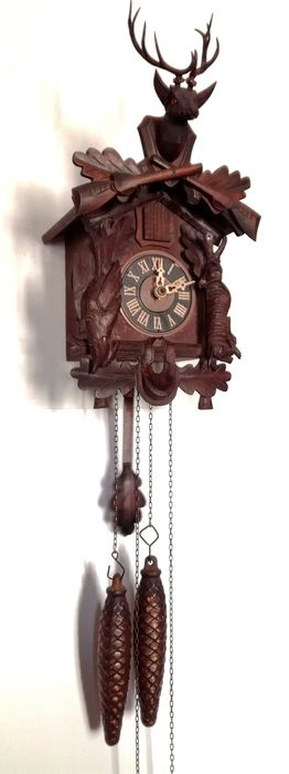Antique Black forest cuckoo clock - Wood - 20th century