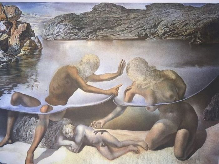 Salvador Dalí (After) - Hercules Lifts the Skin of the Sea and Stops Venus for an Instant from Waking Love