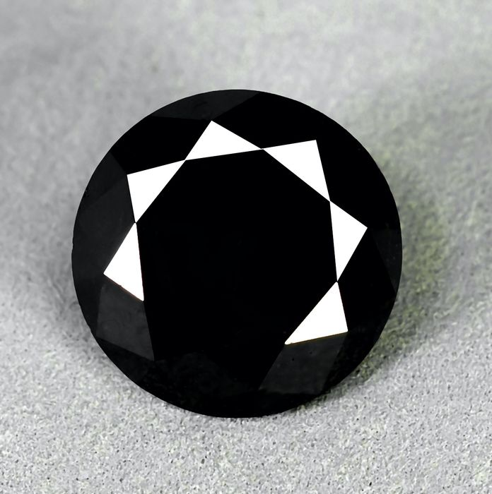 Diamant - 15.34 ct - Brilliant - Black - N/A