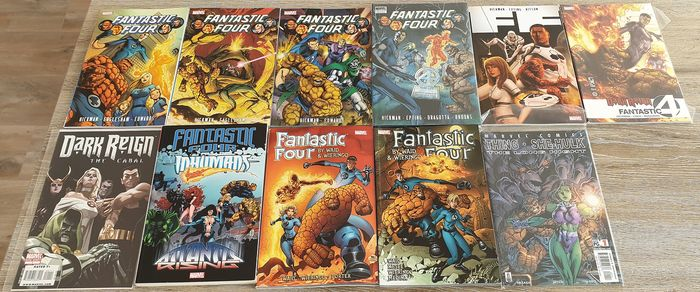 Fantastic Four Huge Lot - Huge Fantastic Four TPB/ HC lot by Waid, Wieringo, Hickman & others - Hardcover - First edition - (2014/2018)