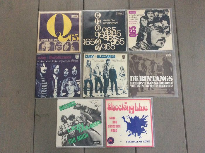 Q65, Cuby + The Blizzards, Bintangs, Shocking Blue - Multiple artists - Multiple titles - 45 rpm Single - 1966/1970