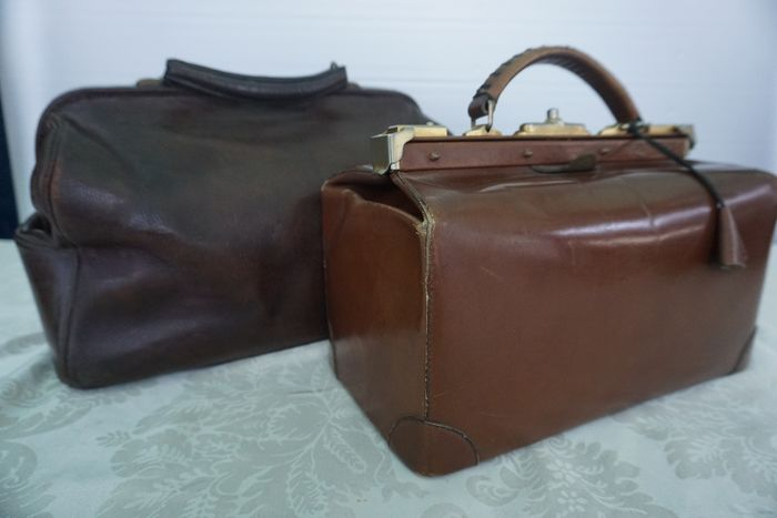Two vintage doctor's bags