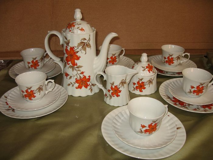 Retsch & Co. - Coffee set (21) - Porcelain