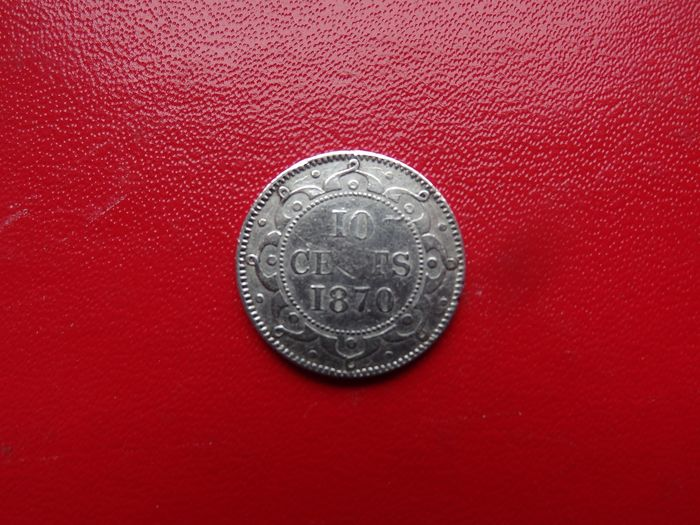 Canada, New Foundland - 10 Cents 1870 Victoria  - Silver