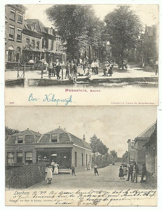 Netherlands - South Holland Villages and Cities - Postcards (Collection of 86) - 1900-1935