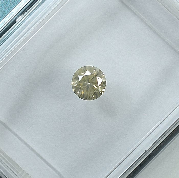 Diamond - 0.19 ct - Brilliant - Light Yellowish Brown - Si2 - NO RESERVE PRICE