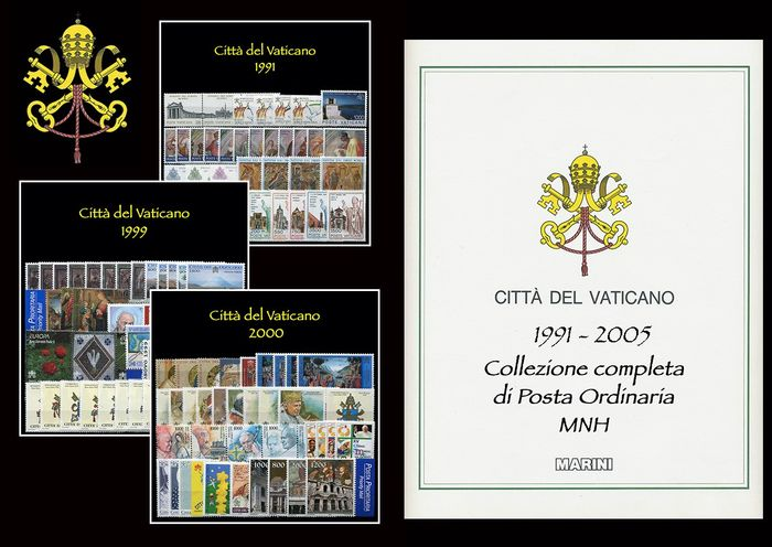 Vatican City 1991/2005 - Complete collection of 15 years of regular mail - Sassone PO dal N 895 al N 1400