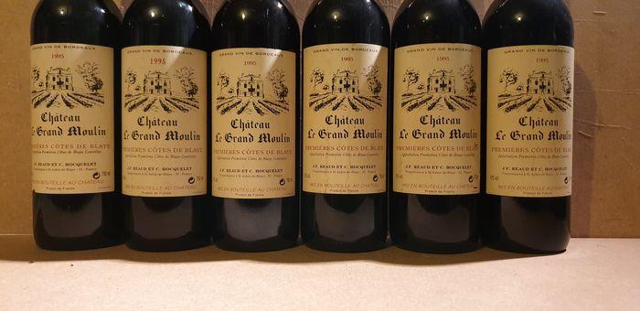 1995 Chateau Le Grand Moulin - Bordeaux - 6 Bottles (0.75L)