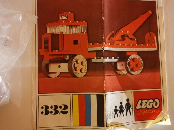 LEGO - System - 332-310 - Lorry and boat - 1960-1969