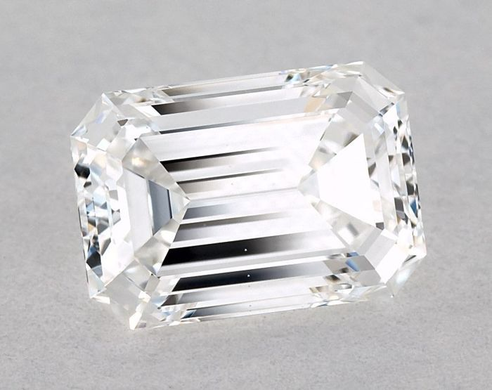 1 pcs Diamant - 1.01 ct - Émeraude - E - VVS1, GIA - 2 EX - Low Reserve Price