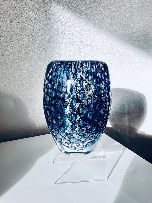 Floris Meydam Leerdam glasfabriek - Leerdam - Serica bubble vase - Glass