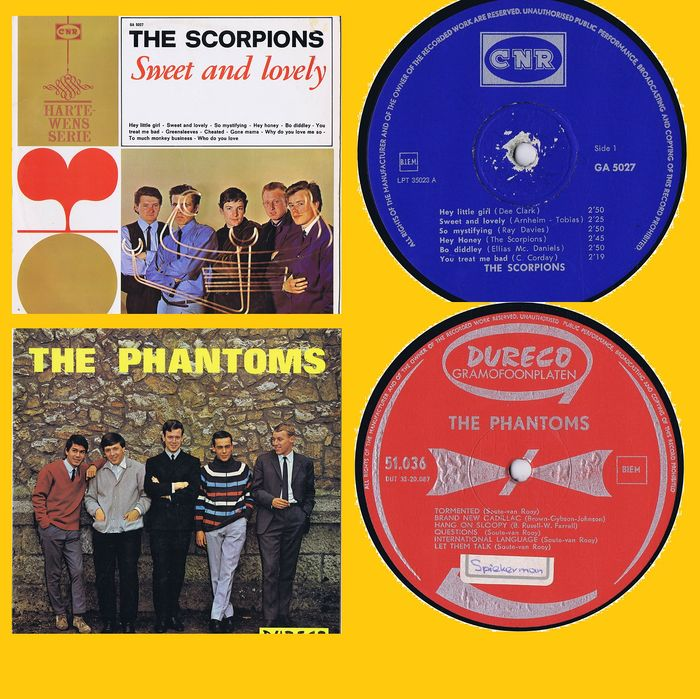 Nederbeat: The Scorpions / The Phantoms - 1. Sweet and Lovely  2. The Phantoms  - Multiple titles - LP's - 1966