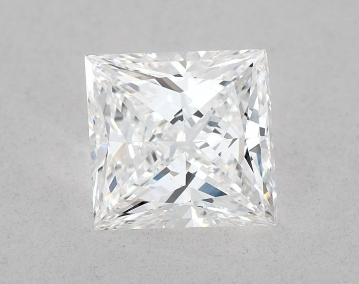 1 pcs Diamond - 0.91 ct - Brilliant, Princess - D (colourless), VG/GD - IF (flawless), Low Reserve Price + Free Shipping