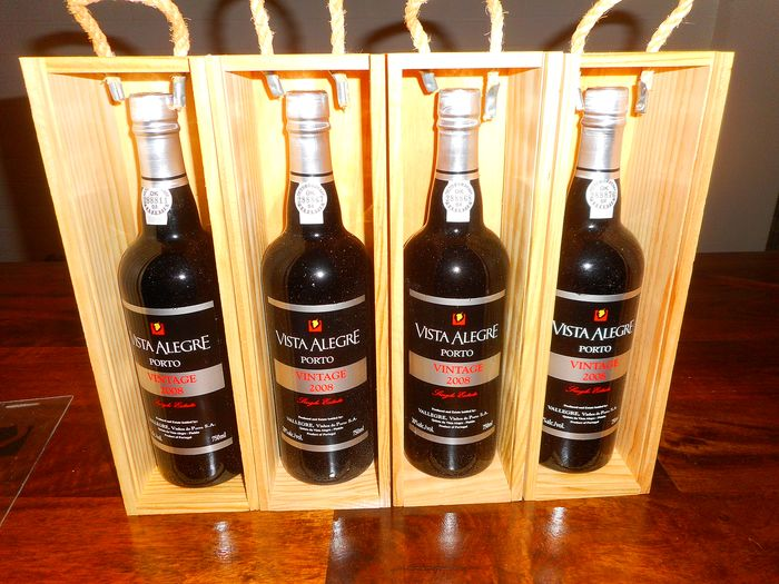 2008 Vista Alegre (Vallegre) Vintage Port - 4 Bottles (0.75L)