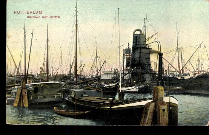 Netherlands - Ships - Rotterdam, Shipping, Quay and Harbor Views with a lot of inland shipping - Postcards (Collection of 97) - 1898-1960