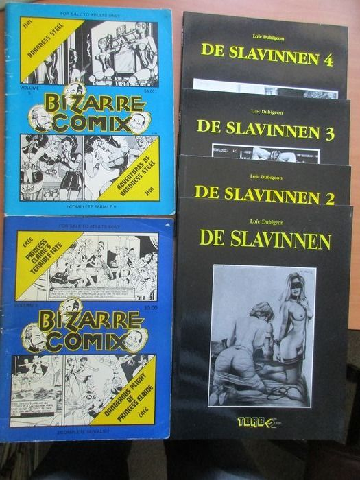 De Slavinnen + Bizar Comix - 6albums over SM en Flagelatie - Softcover - First edition - (1975/1997)