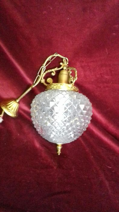 Ceiling lamp - brass and glass