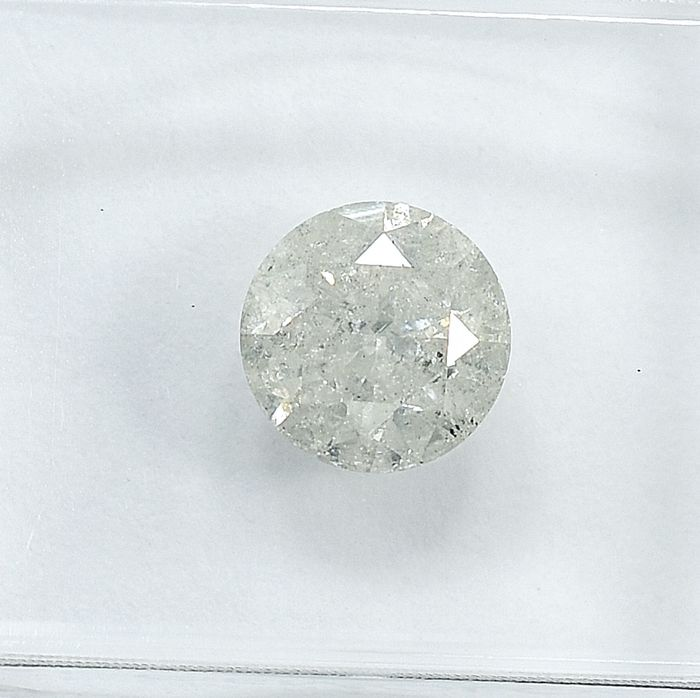 Diamond - 1.12 ct - Brilliant - N (tinted) - I3 - NO RESERVE PRICE
