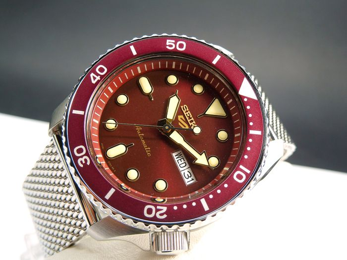 Seiko - Man Automatic Sport S Acciaio Red Bordeaux Special New Model 2019 - SRPD69K1 - Homem - 2019