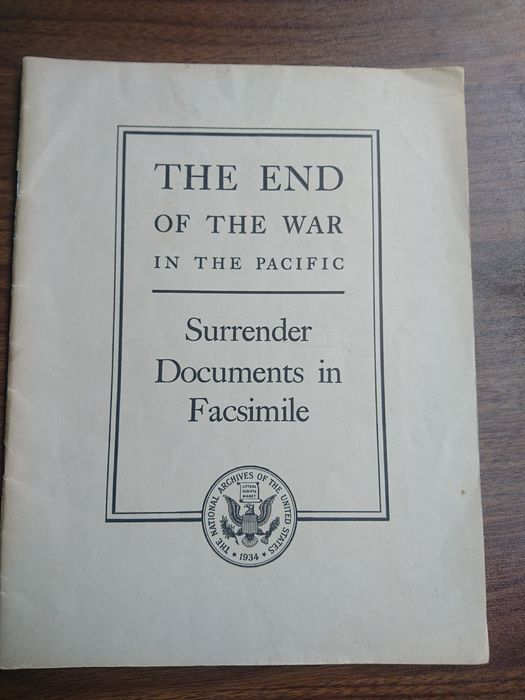 Japan - Very Rare - official Facsimiles of Japanese Unconditional Surrender Documents - Pacific - Atomic Bomb - 1945