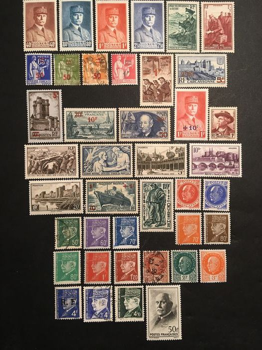 France - 1941-1953 - Set of stamps including between 470 and 967 - Yvert