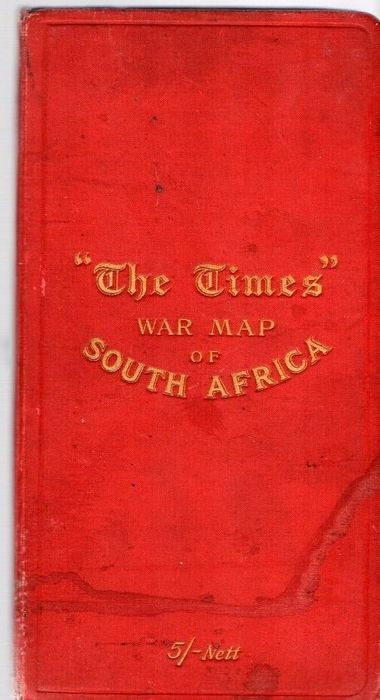 "South Africa; The Times - ""The Times"" War Map of SOUTH AFRICA - 1901-1920"