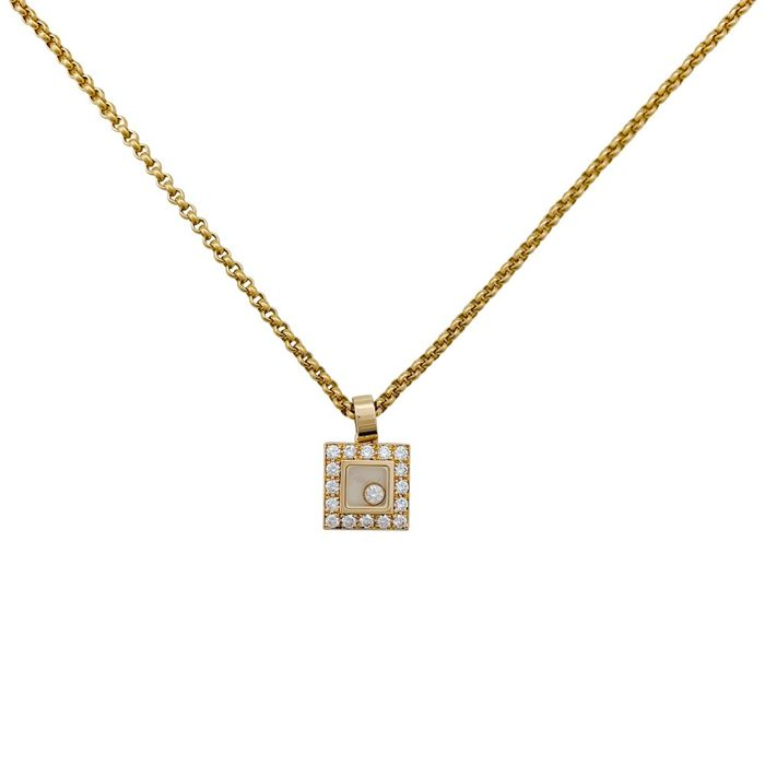 Chopard - 18 kt. Gold, Yellow gold - Necklace with pendant Diamond