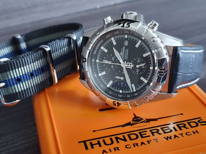 Thunderbirds   -  Pilot watch Chronograph + free omega style strap - Homme - 2019