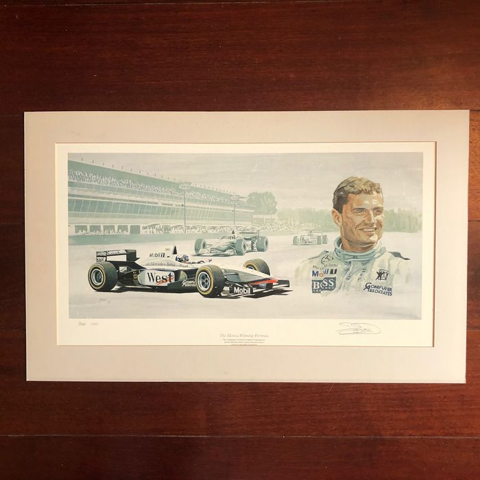 Formula One - David Coulthard - 1997 - Lithography