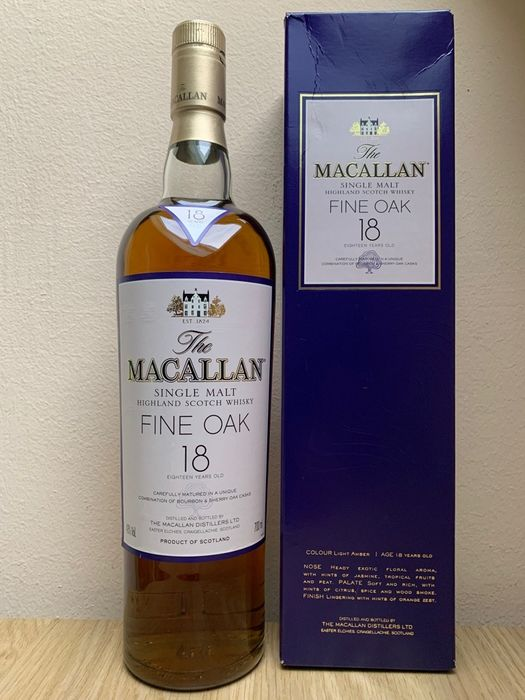 Macallan 18 years old Fine Oak - Original bottling - 700ml