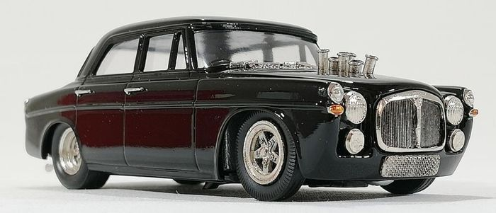 """ROD 43rd - ROD.23 - pertenece a The Brooklin Collection - 1:43 - 1965 ROVER P5 """"PRO STREET"""" (NEGRO) - Made in England"""